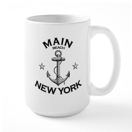 Main Beach, New York Large Mug