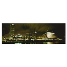 Wisconsin, Milwaukee, Milwaukee Art Museum at nigh Poster