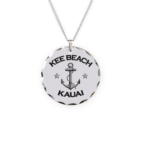 Kee Beach, Kauai, Hawaii Necklace Circle Charm