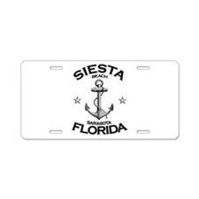 Siesta Beach, Sarasota, FL Aluminum License Plate