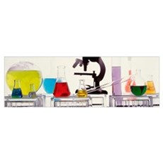 Close-up of laboratory equipment Canvas Art