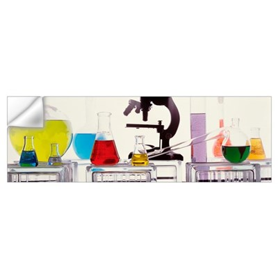 Close-up of laboratory equipment Wall Decal