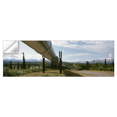 Low angle view of a pipeline, Trans Alaska Pipelin Wall Decal