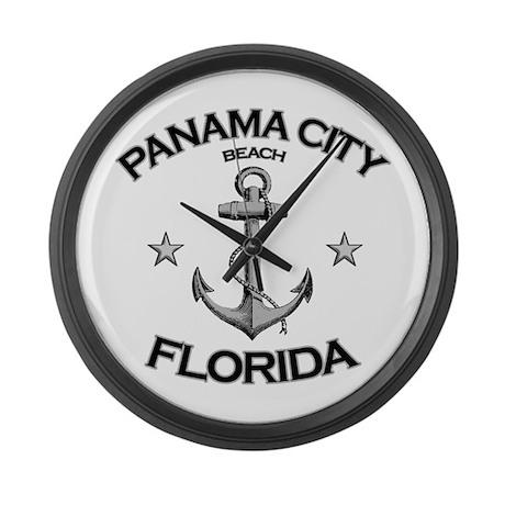 Panama City Beach, Florida Large Wall Clock
