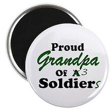 Proud Grandpa 3 Soldiers Magnet
