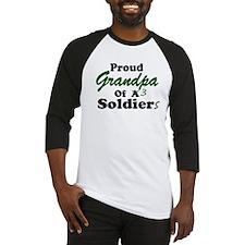 Proud Grandpa 3 Soldiers Baseball Jersey