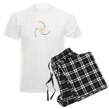 Triple Julia Set Crop-Circle Men's Light Pajamas