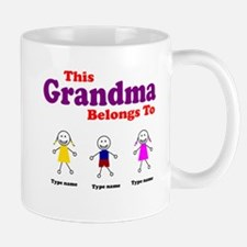 Personalized Grandma 3 kids Mug
