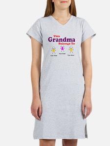 Personalized Grandma 3 girls Women's Nightshirt
