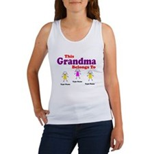 Personalized Grandma 3 girls Women's Tank Top