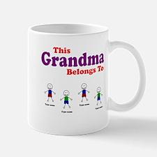 Personalized Grandma 4 boys Mug