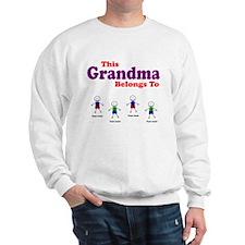 Personalized Grandma 4 boys Sweatshirt