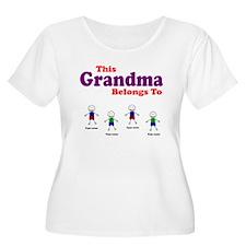 Personalized Grandma 4 boys T-Shirt