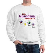 Personalized Grandma 4 kids Sweatshirt
