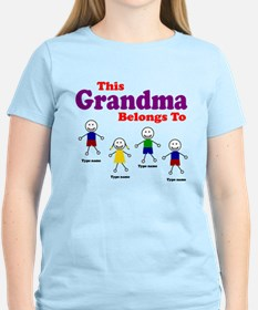 Personalized Grandma 4 kids T-Shirt