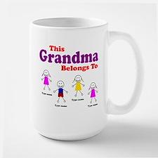 This Grandma Belongs 4 kids Large Mug