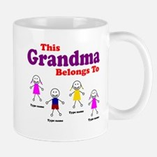 This Grandma Belongs 4 kids Mug