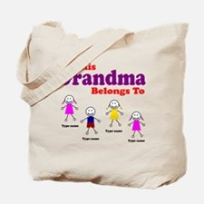 This Grandma Belongs 4 kids Tote Bag