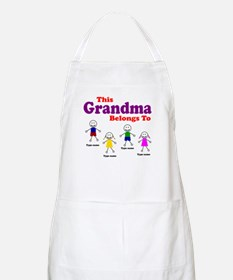 Personalized Grandma 4 kids Apron
