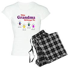 Personalized Grandma 4 kids pajamas
