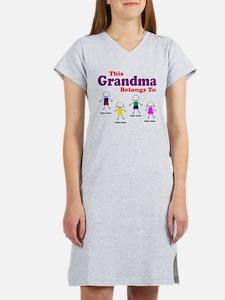 Personalized Grandma 4 kids Women's Nightshirt