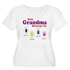 Personalized Grandma 4 kids T-Shirt