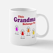 Personalized Grandma 4 girls Mug
