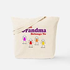 Personalized Grandma 4 girls Tote Bag