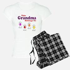 Personalized Grandma 4 girls pajamas