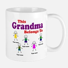 Personalized Grandma 5 kids Mug