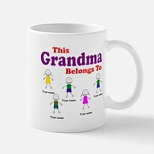 Personalized Grandma 5 kids Small Small Mug