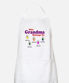Personalized Grandma 5 kids Apron