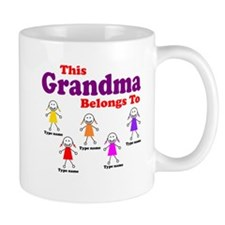 Personalized Grandma 5 girls Small Mug