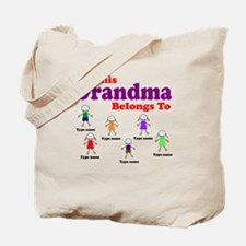 Personalized Grandma 6 kids Tote Bag
