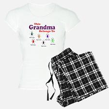 Personalized Grandma 6 kids pajamas