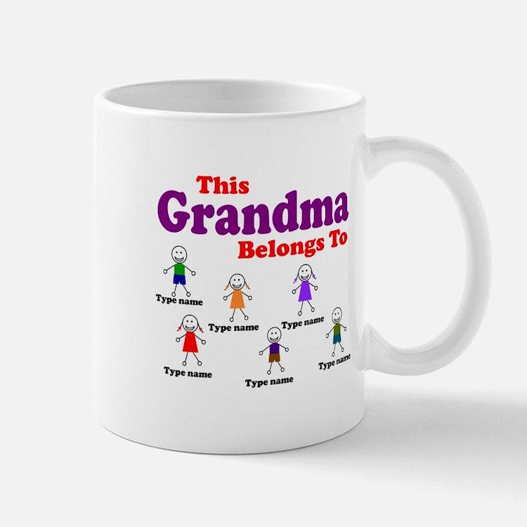 Personalized Grandma 6 kids Mug
