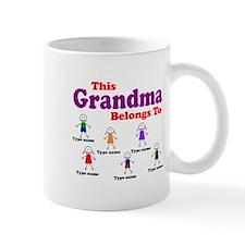 Personalized Grandma 6 kids Small Small Mug