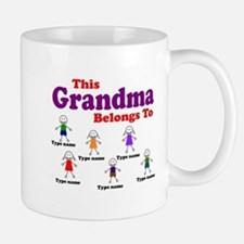 Personalized Grandma 6 kids Small Small Mug