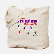 Personalized Grandma 6 kids Tote Bag