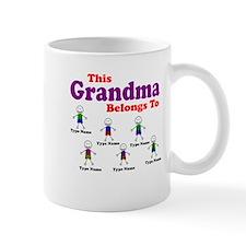 Personalized Grandma 6 boys Small Mug