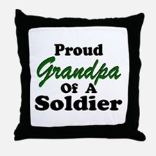 Proud Grandpa 2 Soldiers Throw Pillow