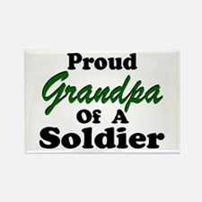 Proud Grandpa 2 Soldiers Rectangle Magnet