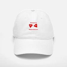 Personalized My Heart Filled Baseball Baseball Cap