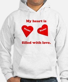Personalized My Heart Filled Hoodie