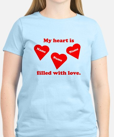 Personalized My Heart Filled T-Shirt