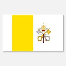 Flag of Vatican City Rectangle Decal