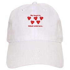 Personalized My Heart Filled Baseball Cap