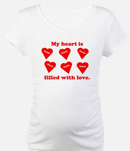 Personalized My Heart Filled Shirt