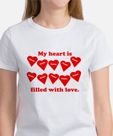 Personalized My Heart Filled Women's T-Shirt