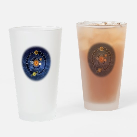 Two Mayan Calendar Endings Drinking Glass